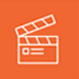 orange logo of film and digital media